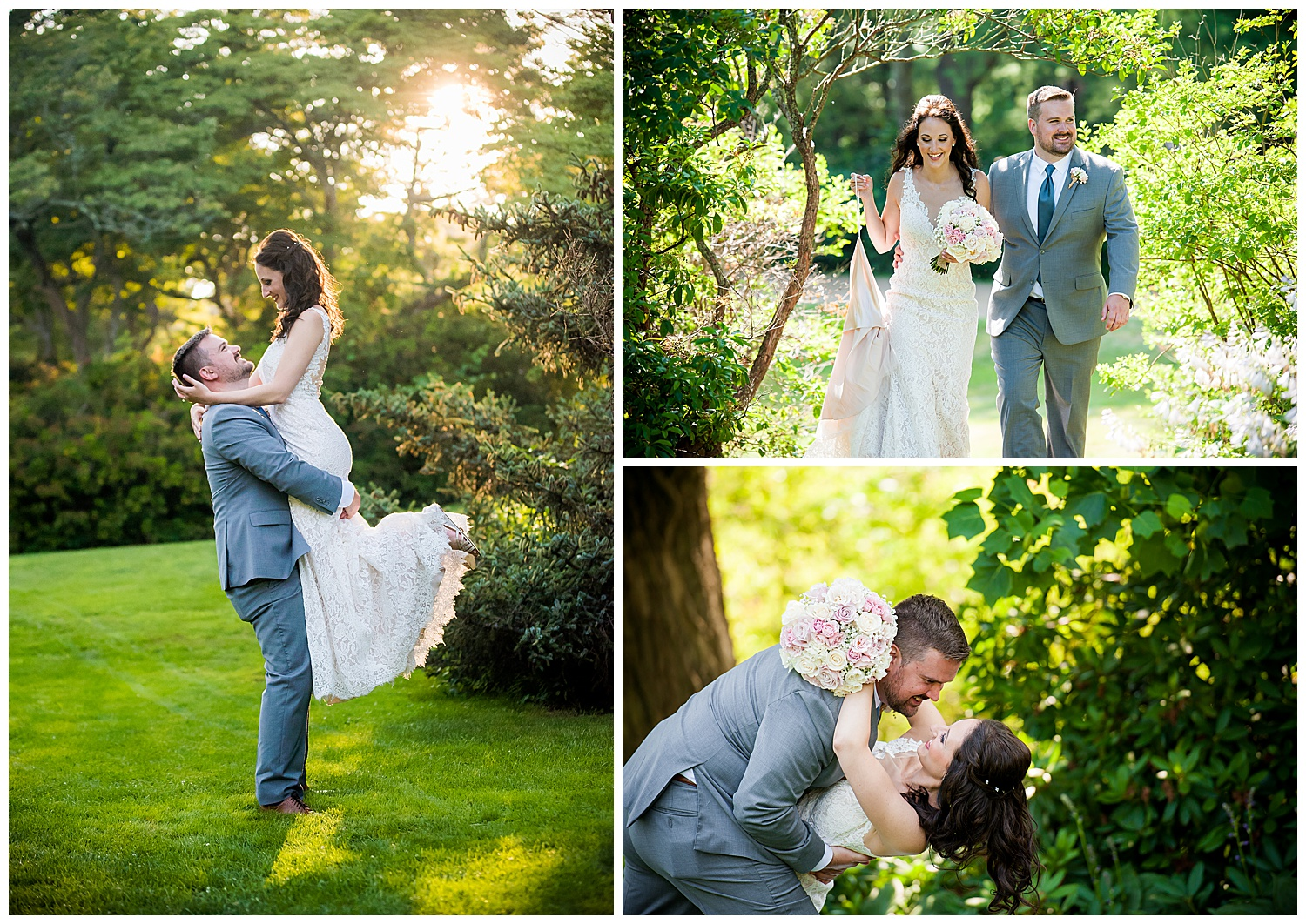 Moraine Farms Bride and Groom Golden Hour Portraits