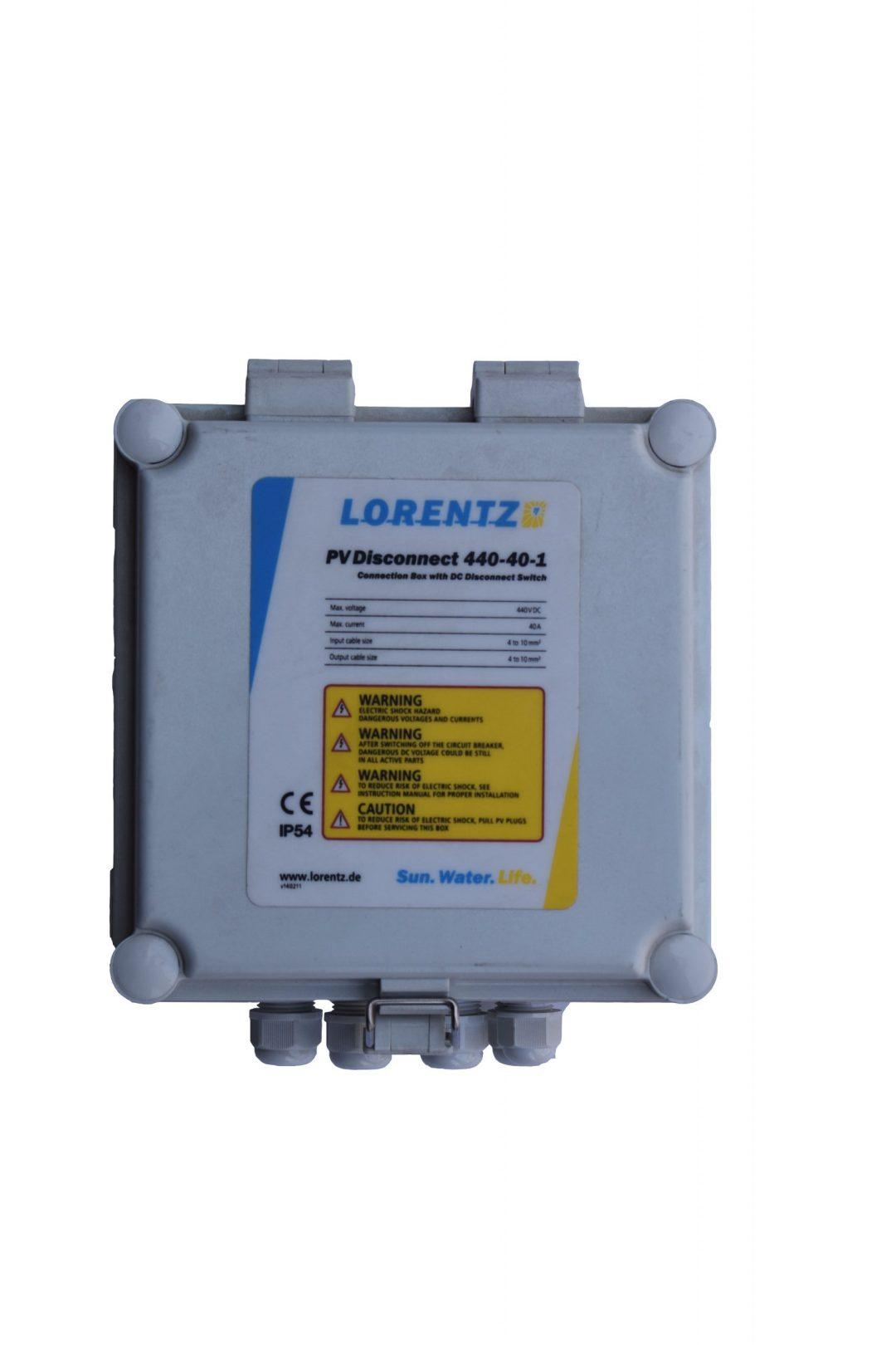 Lorentz pv disconnect