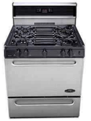 Peerless Premier Stainless Range with electronic ignition