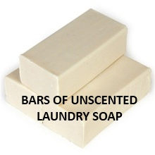 Homemade laundry soap fels naptha or other brand