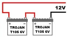 Using Two Trojan T105s in Series to Make a 12 Volt System