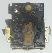 electric thermostat melted and caught fire