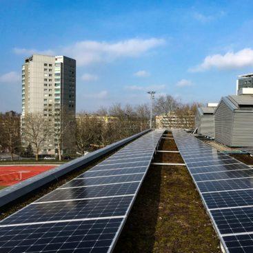 Solaranlage von Solarify auf Wankdorfalle in Bern