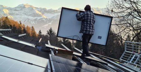 Installation Solaranlage Landgasthof Rothorn