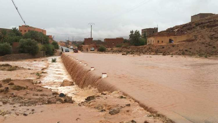 The flooded bridge