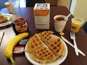Breakfast at the Econo Lodge in Canandaigua
