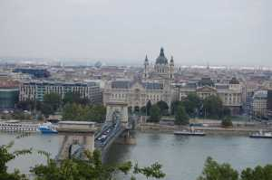 Budapest Chain Bridge and St Stephen's Cathedral