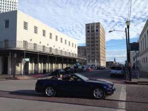 A Mustang in Downtown Galveston