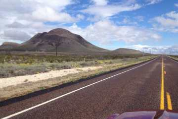Driving in Big Bend National Park