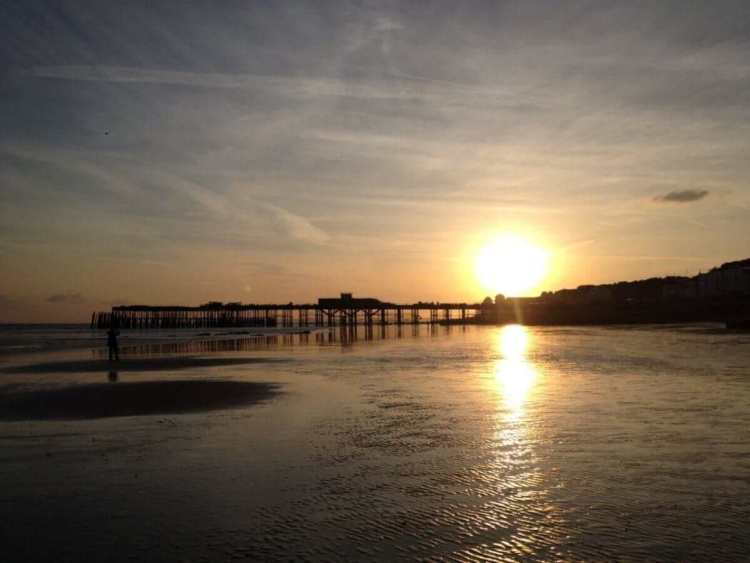 Hastings Pier in the Sunset