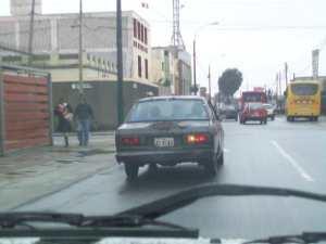 A car in Lima, Peru