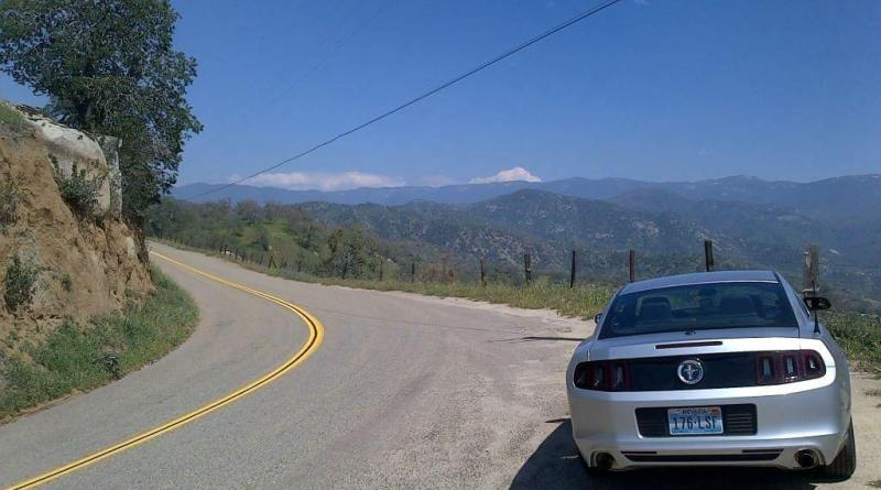 Driving to the Sequoia National Forest from LA