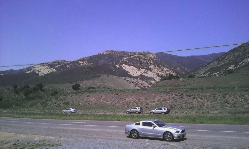 Driving to the Sequoia National Forest
