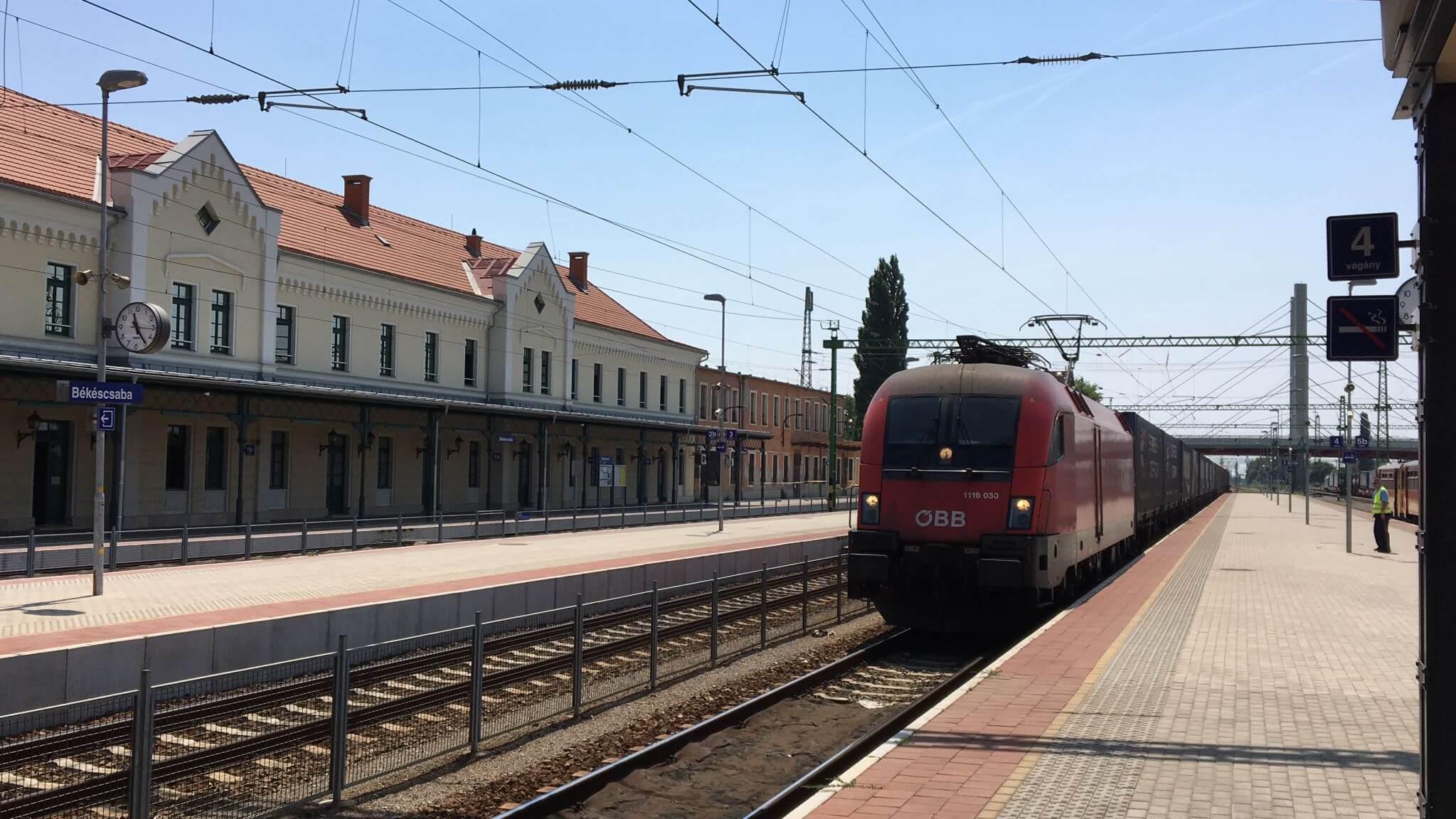 Freight Train in Bekescsaba, Hungary