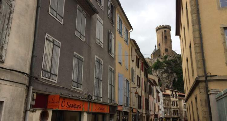 Foix Castle and Main Street