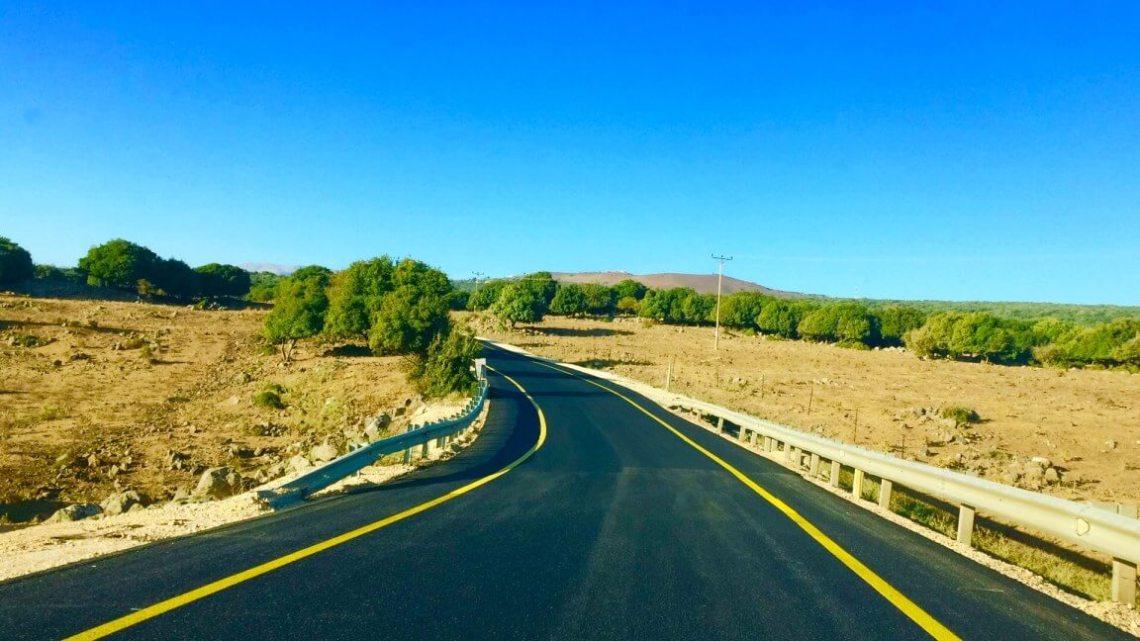 Driving north of Tiberias, Israel