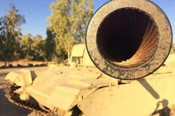 A Tank Memorial in Israel