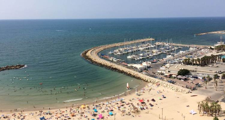 The view from the balcony in Tel Aviv, Israel
