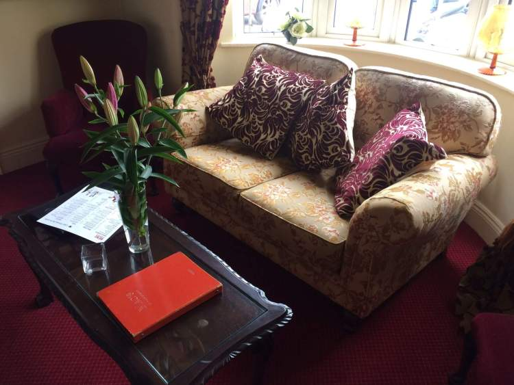The sofa in the lobby