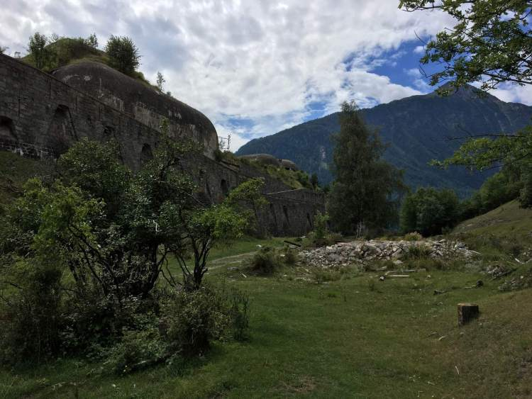 The abandoned WWII site in Modane, France