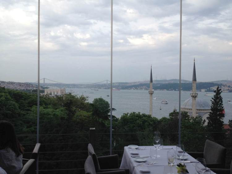 View over the Bosporus from a nearby restaurant