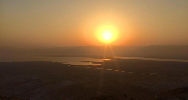 Witnessing The Sunrise at the Masada in Israel