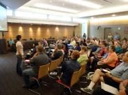 workshop participants and speaker at Solarize Southwest's Burien workshop