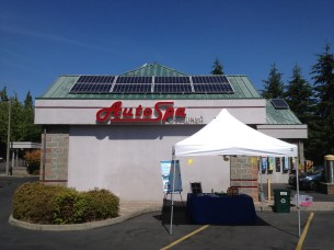 exterior of AutoSpa at Solarize Mercer Island