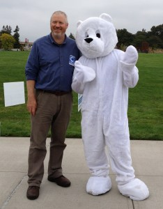 Mayor McGinn with polar bear