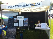 solar panel at Solarize Magnolia