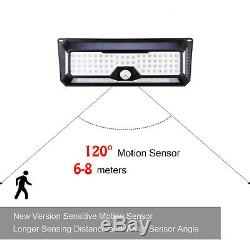 136 LED Solar Powered PIR Motion Sensor Wall Security