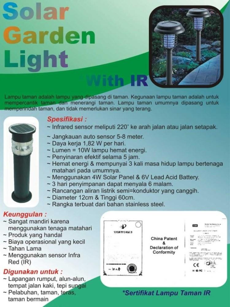 Distributor Solar Garden Light brosur IR