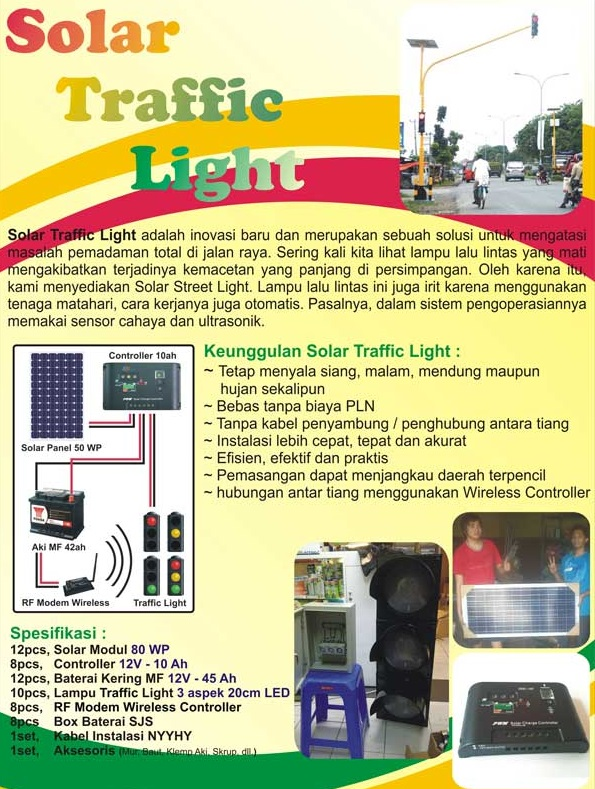 Solar Traffic Light brosur