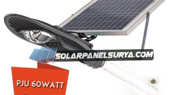 Solar panel Penerangan jalan umum PJU 60watt