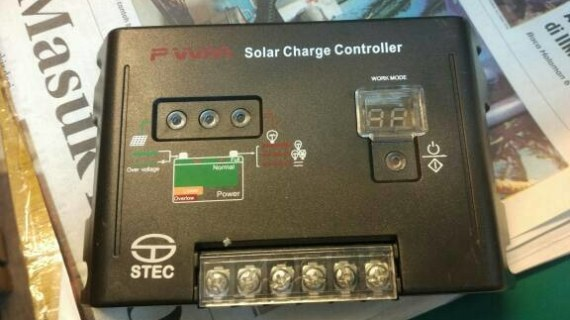 Jual PWM Solar charger Controller STEC 10a 12/24v DC