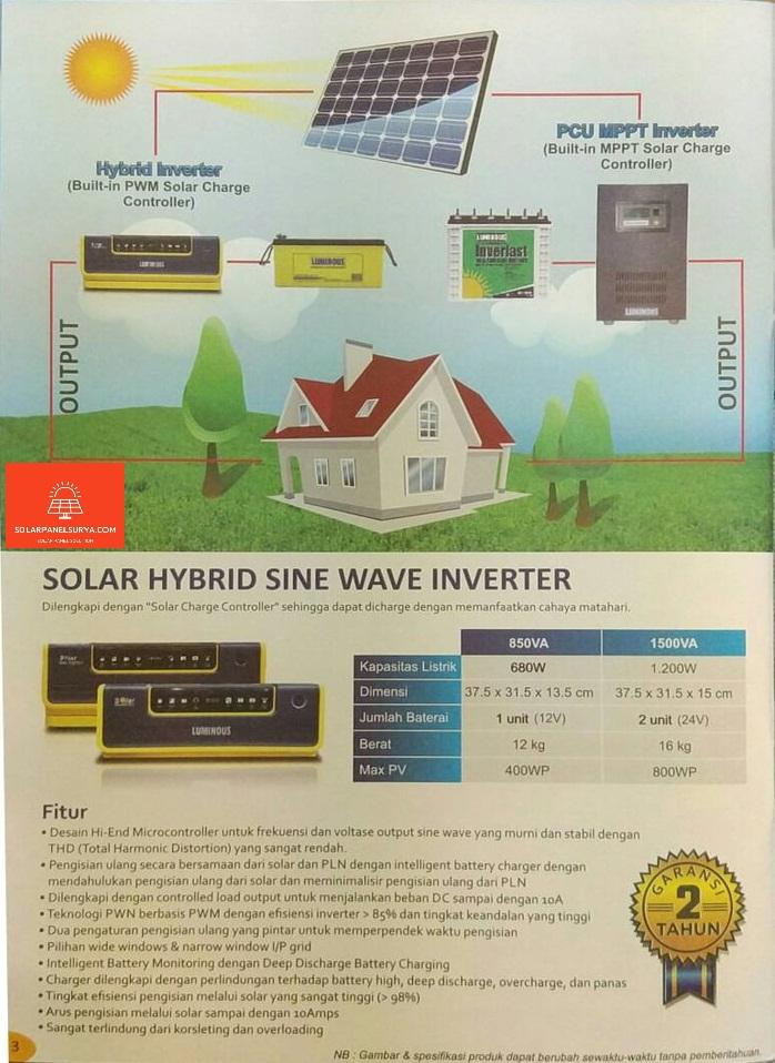 deskripsi Luminous Solar Hybrid Pure Sine