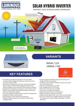 harga Luminous Solar Hybrid inverte