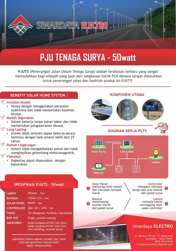 PJU Tenaga Surya 50watt