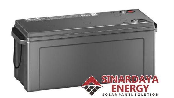 Battery Solarcell Panasonic 12V 200Ah | Baterai Aki Tenaga Surya Panasonic