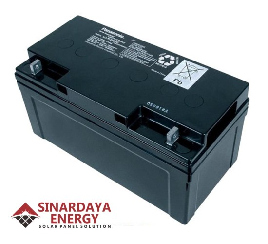 harga baterai panasonic pju 12v 65ah