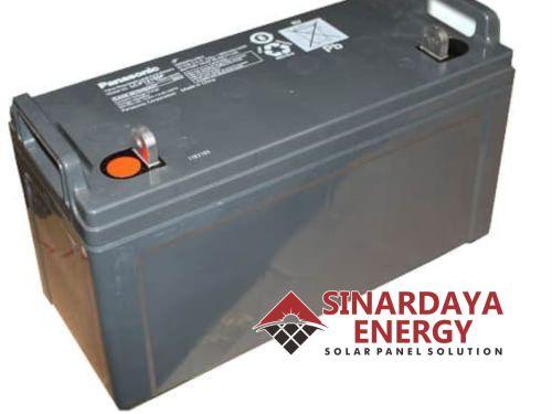 jual aki pju tenaga surya panasonic VRLA 12v 150ah solar cell