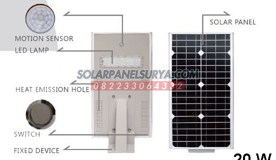 Lampu PJU Tenaga Surya All In One 20 Watt