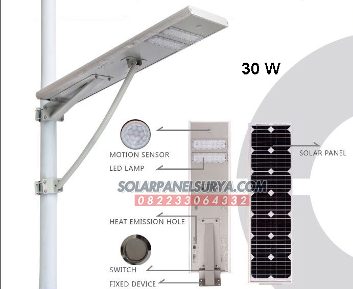 Jual Lampu PJU Tenaga Surya All In One 30 Watt Murah Bergaransi