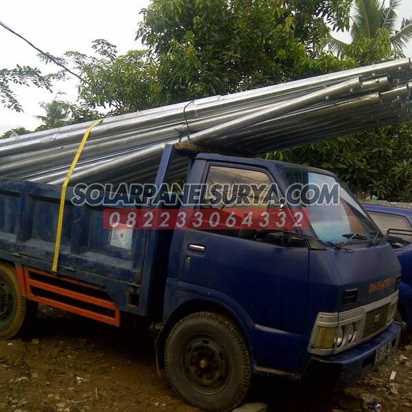 Tiang PJU Solar Cell 8 Meter Bulat