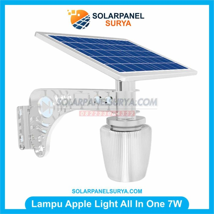 Lampu Taman Solar Cell Apple Light 7 watt