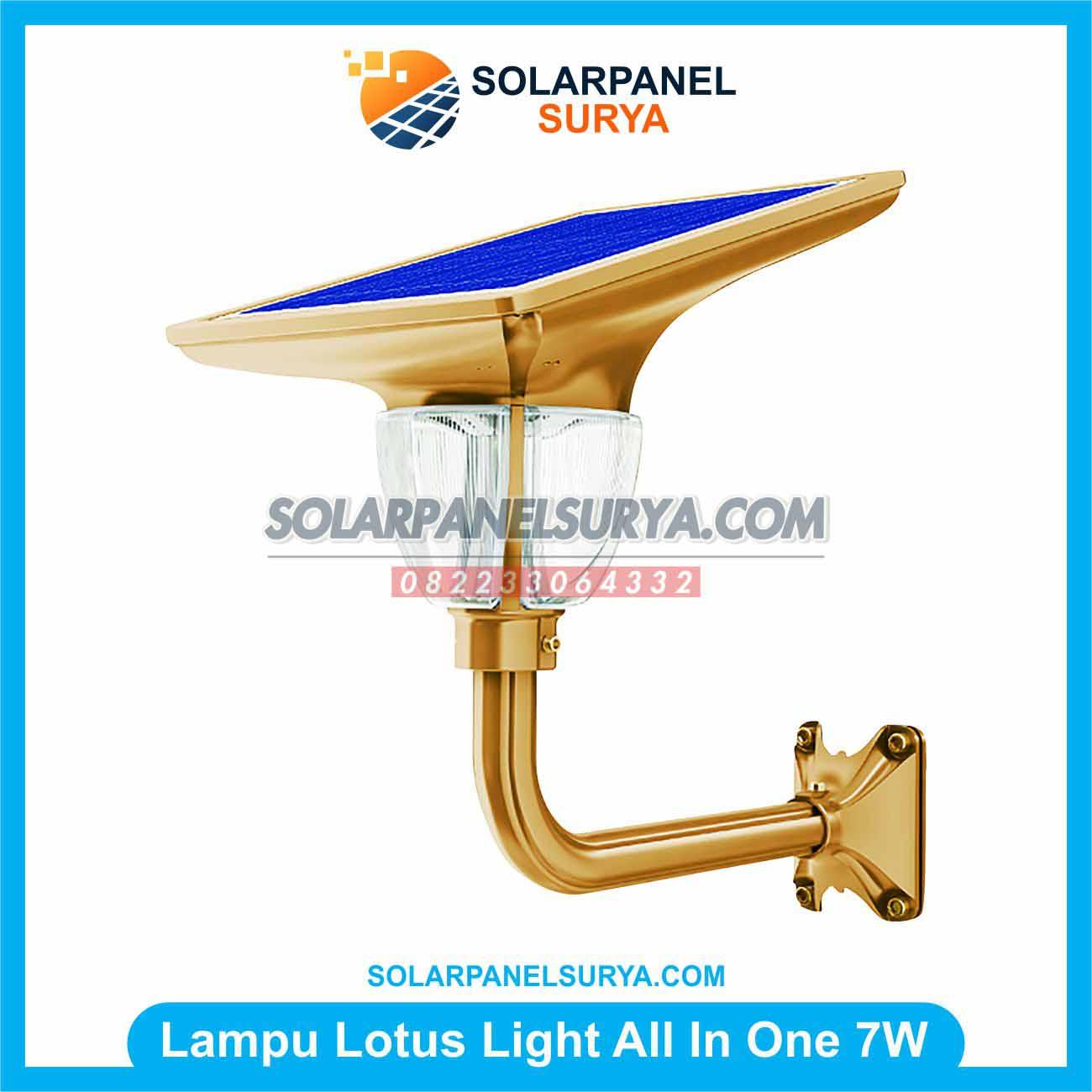 Jual Lampu Taman Solarcell All In One Lotus Light 7 Watt