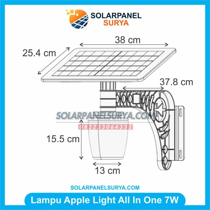 Lampu Taman Tenaga Surya Apple Light 7 watt