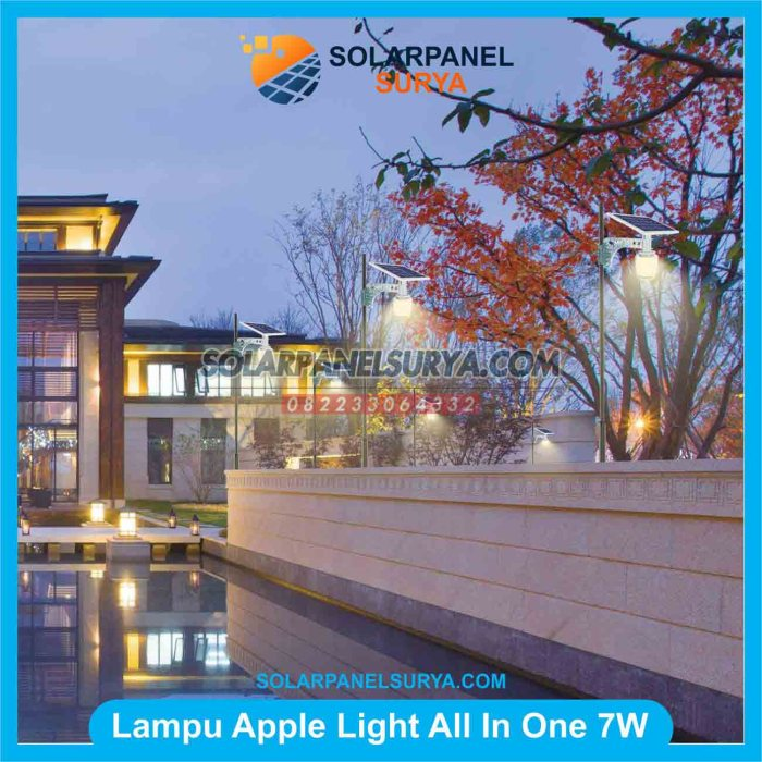 Lampu Taman Tenaga Surya Apple Light 7W