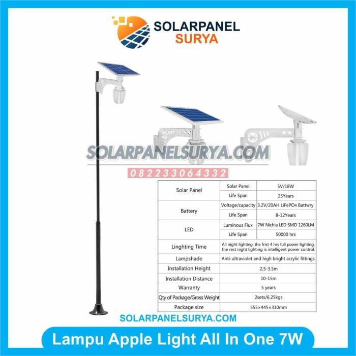 lampu taman solar cell 7 watt