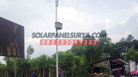 Harga Paket PJU Solarcell 60 watt satu set terbaru | Lampu PJU Tenaga Surya 60 w